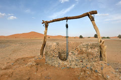 Water well in Sahara Desert, Morocco. North Africa Royalty Free Stock Images