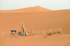 Water well in Sahara Desert, Morocco. North Africa Stock Photo