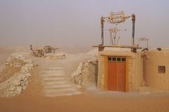 Water well in Sahara Desert, Morocco Stock Photos