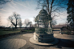 Water well on Schlossberg hill in Graz city Royalty Free Stock Photography