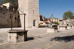 Water well in Zadar , Croatia royalty free stock photos