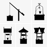Water wells. Available in high-resolution and several sizes to fit the needs of your project Stock Photo