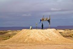 Water wells in Sahara Royalty Free Stock Image