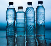 Water. Wet plastic water bottle,Cool water royalty free stock image