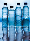 Water. Wet plastic water bottle, Cool water royalty free stock images