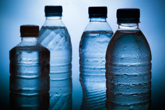 Water. Wet plastic water bottle,Coolwater stock photo