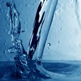 Water wet splash Stock Photos