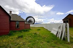 Water Wheel. On an old farm Royalty Free Stock Photo