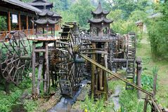 Water wheel in China stock image