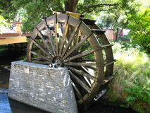 Water wheel Christchurch. A water wheel on Avon river in Christchurch New Zealand Royalty Free Stock Photo