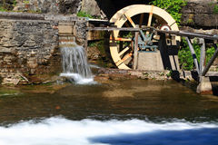 Water Wheel detail from live museum. Stock Photos