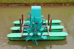 Water wheel floating on the canal Stock Images
