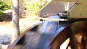 Water wheel of grist mill stock video