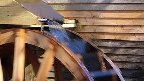 Water wheel of Grist Mill stock video footage