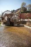 Water wheel ,landmark of Lijiang Dayan old town. Stock Image