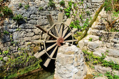 Water wheel mill Stock Image