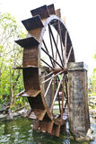 Water Wheel - motion blur on wheel.  stock images