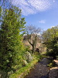 Water wheel. Old water wheel in the village of Chipping in the Ribble Valley, Lancashire, UK Royalty Free Stock Image