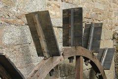 Water wheel paddles royalty free stock photo