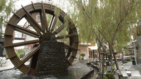 Water wheel stock footage