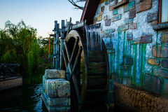 Water wheel passed through time Royalty Free Stock Photography