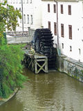 Water wheel in Prague Stock Photo