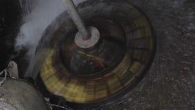 Water Wheel Rotating stock video footage
