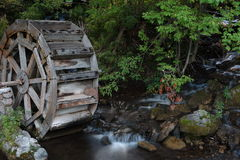 Water wheel in Utah. Water wheel at Log Haven in Salt Lake City Utah Stock Photo