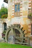 Water Wheel, Versailles Queen's Hamlet. A water wheel at the Queen's Hamlet, Marie Antoinette's village at Versailles, France Royalty Free Stock Images