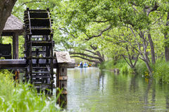 Water Wheel on Yorozui River, Hokata Royalty Free Stock Image