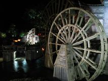 Water wheels in Lijang Stock Images