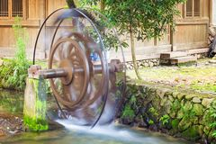 Water wheels in old town Yantou, China Royalty Free Stock Image