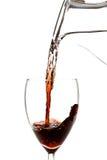 Water in wijn Stock Foto's