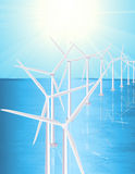 Water wind farm Royalty Free Stock Photo