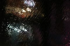 Water on the windscreen royalty free stock photography