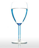 Water in a wineglasse. Royalty Free Stock Images