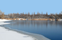 Water winter landscape Royalty Free Stock Images