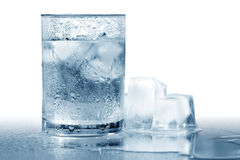 Water With Ice Stock Photo