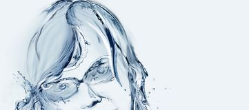 Water Woman with Glasses Stock Photo
