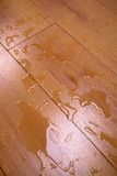 Water on a wooden covering Royalty Free Stock Images