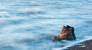 Water Work Boots Royalty Free Stock Photos
