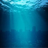 Water World. Global environmental backgrounds for your design Stock Photo