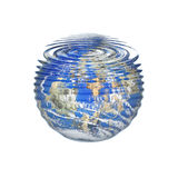 Water world. Earth under water with ripple Royalty Free Stock Images