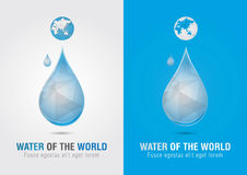 Water of the world icon sign symbol. Creative marketing. Social and Environmental Enterprise Royalty Free Stock Images