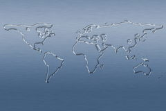 Water world map stock illustration