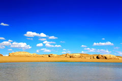 The Water Yardang Devil City, the world`s unique water yardang landform. Located in Qinghai province , China stock image