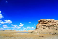 The Water Yardang Devil City, the world`s unique water yardang landform. Located in Qinghai province , China royalty free stock photo