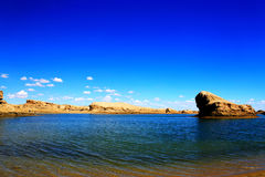The Water Yardang Devil City, the world`s unique water yardang landform. Located in Qinghai province , China stock photos