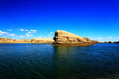 The Water Yardang Devil City, the world`s unique water yardang landform.  Royalty Free Stock Photos
