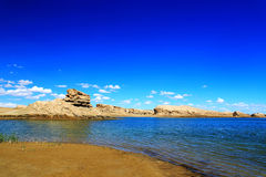 The Water Yardang Devil City, the world`s unique water yardang landform. Located in Qinghai province , China stock photography